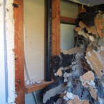 Demolished bathroom