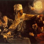 "Painting of Rembrandt's ""Belshazzar's Feast,"" for Psalm 137:8-9"