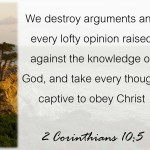 2 Corinthians 10:5 is about knowing truth
